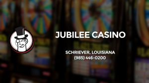 Casino & gambling-themed header image for Barons Bus Charter service to Jubilee Casino in Schriever, Louisiana. Please call 9854460200 to contact the casino directly.)