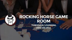 Casino & gambling-themed header image for Barons Bus Charter service to Rocking Horse Game Room in Thibodaux, Louisiana. Please call 9854933722 to contact the casino directly.)
