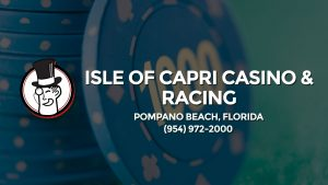 Casino & gambling-themed header image for Barons Bus Charter service to Isle Of Capri Casino & Racing in Pompano Beach, Florida. Please call 9549722000 to contact the casino directly.)