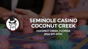 Casino & gambling-themed header image for Barons Bus Charter service to Seminole Casino Coconut Creek in Coconut Creek, Florida. Please call 9549776700 to contact the casino directly.)