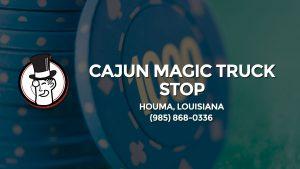 Casino & gambling-themed header image for Barons Bus Charter service to Cajun Magic Truck Stop in Houma, Louisiana. Please call 9858680336 to contact the casino directly.)