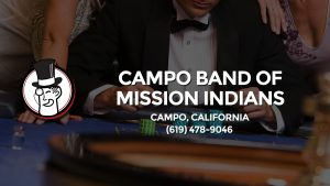 Casino & gambling-themed header image for Barons Bus Charter service to Campo Band Of Mission Indians in Campo, California. Please call 6194789046 to contact the casino directly.)