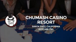 Casino & gambling-themed header image for Barons Bus Charter service to Chumash Casino Resort in Santa Ynez, California. Please call 8056887161 to contact the casino directly.)