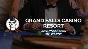 Casino & gambling-themed header image for Barons Bus Charter service to Grand Falls Casino Resort in Larchwood, Iowa. Please call 7127777777 to contact the casino directly.)
