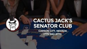 Casino & gambling-themed header image for Barons Bus Charter service to Cactus Jack's Senator Club in Carson City, Nevada. Please call 7758828770 to contact the casino directly.)