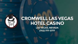 Casino & gambling-themed header image for Barons Bus Charter service to Cromwell Las Vegas Hotel Casino in Las Vegas, Nevada. Please call 7027773777 to contact the casino directly.)