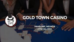 Casino & gambling-themed header image for Barons Bus Charter service to Gold Town Casino in Pahrump, Nevada. Please call 7757517777 to contact the casino directly.)