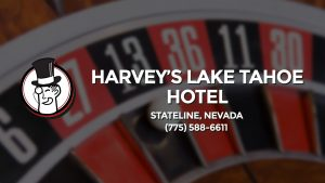 Casino & gambling-themed header image for Barons Bus Charter service to Harvey's Lake Tahoe Hotel in Stateline, Nevada. Please call 7755886611 to contact the casino directly.)