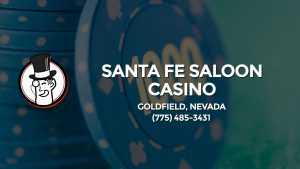 Casino & gambling-themed header image for Barons Bus Charter service to Santa Fe Saloon Casino in Goldfield, Nevada. Please call 7754853431 to contact the casino directly.)