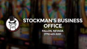Casino & gambling-themed header image for Barons Bus Charter service to Stockman's Business Office in Fallon, Nevada. Please call 7754233201 to contact the casino directly.)