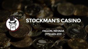 Casino & gambling-themed header image for Barons Bus Charter service to Stockman's Casino in Fallon, Nevada. Please call 7754232117 to contact the casino directly.)