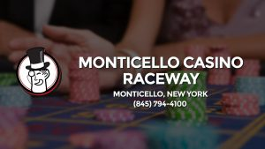 Casino & gambling-themed header image for Barons Bus Charter service to Monticello Casino Raceway in Monticello, New York. Please call 8457944100 to contact the casino directly.)