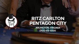 Casino & gambling-themed header image for Barons Bus Charter service to Ritz Carlton Pentagon City in Arlington, Virginia. Please call 7034155000 to contact the casino directly.)