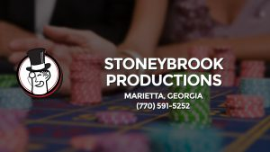 Casino & gambling-themed header image for Barons Bus Charter service to Stoneybrook Productions in Marietta, Georgia. Please call 7705915252 to contact the casino directly.)