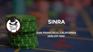Casino & gambling-themed header image for Barons Bus Charter service to Sinra in San Francisco, California. Please call 4152171100 to contact the casino directly.)