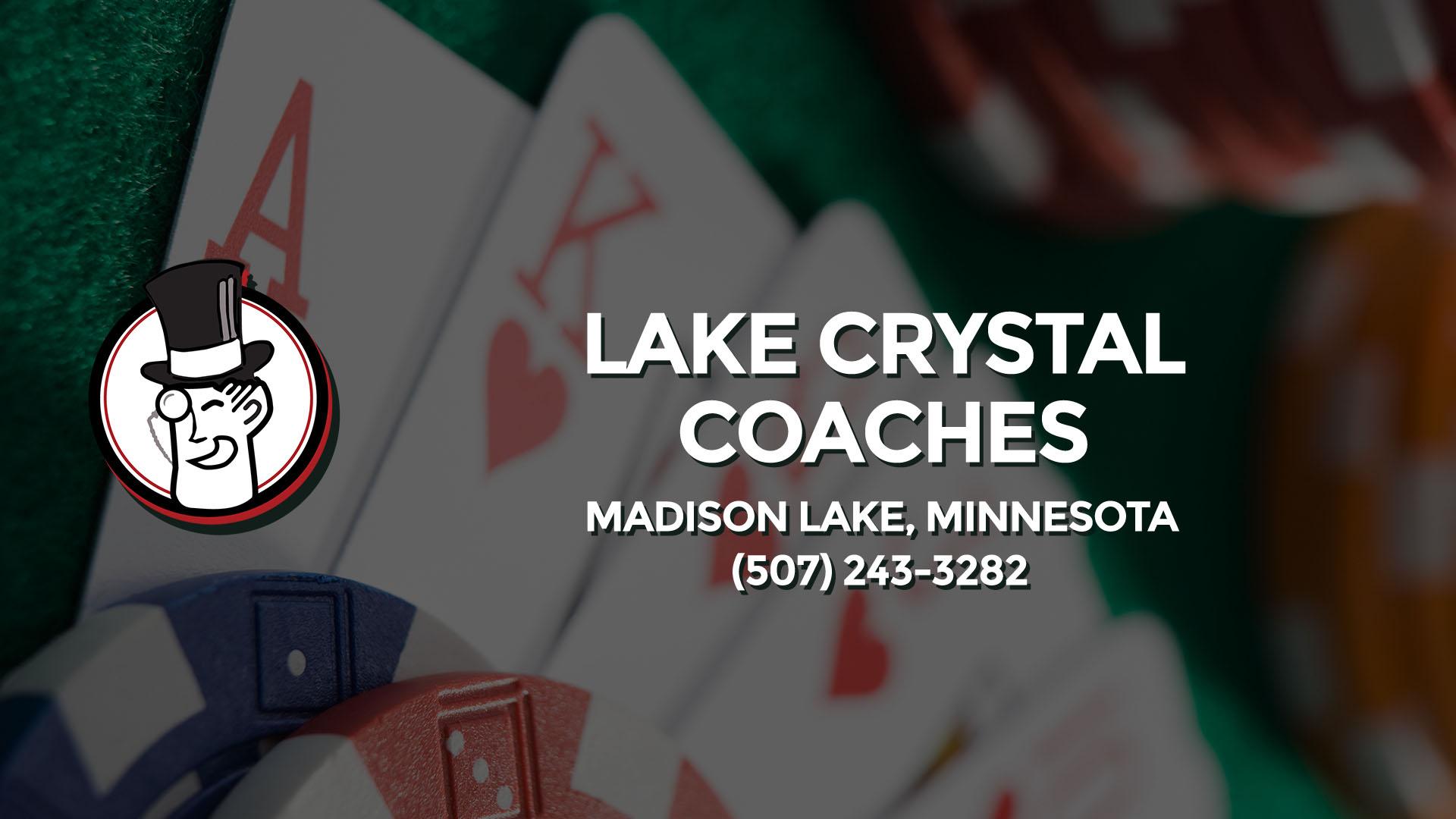 Lake crystal coaches casino gold diggers casino