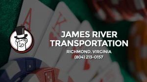 Casino & gambling-themed header image for Barons Bus Charter service to James River Transportation in Richmond, Virginia. Please call 8042130157 to contact the casino directly.)
