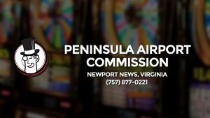 Casino & gambling-themed header image for Barons Bus Charter service to Peninsula Airport Commission in Newport News, Virginia. Please call 7578770221 to contact the casino directly.)