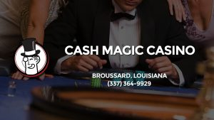 Casino & gambling-themed header image for Barons Bus Charter service to Cash Magic Casino in Broussard, Louisiana. Please call 3373649929 to contact the casino directly.)