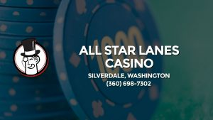 Casino & gambling-themed header image for Barons Bus Charter service to All Star Lanes Casino in Silverdale, Washington. Please call 3606987302 to contact the casino directly.)
