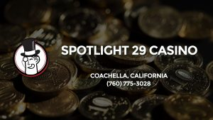 Casino & gambling-themed header image for Barons Bus Charter service to Spotlight 29 Casino in Coachella, California. Please call 7607753028 to contact the casino directly.)