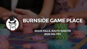 Casino & gambling-themed header image for Barons Bus Charter service to Burnside Game Place in Sioux Falls, South Dakota. Please call 6053327311 to contact the casino directly.)