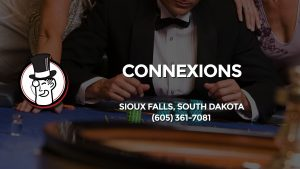Casino & gambling-themed header image for Barons Bus Charter service to Connexions in Sioux Falls, South Dakota. Please call 6053617081 to contact the casino directly.)