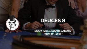 Casino & gambling-themed header image for Barons Bus Charter service to Deuces 8 in Sioux Falls, South Dakota. Please call 6053614499 to contact the casino directly.)