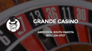 Casino & gambling-themed header image for Barons Bus Charter service to Grande Casino in Aberdeen, South Dakota. Please call 6052260737 to contact the casino directly.)