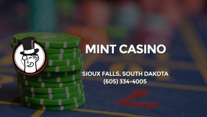 Casino & gambling-themed header image for Barons Bus Charter service to Mint Casino in Sioux Falls, South Dakota. Please call 6053344005 to contact the casino directly.)