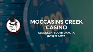 Casino & gambling-themed header image for Barons Bus Charter service to Moccasins Creek Casino in Aberdeen, South Dakota. Please call 6052251123 to contact the casino directly.)