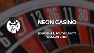 Casino & gambling-themed header image for Barons Bus Charter service to Neon Casino in Sioux Falls, South Dakota. Please call 6053393700 to contact the casino directly.)