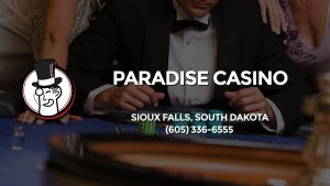 Casino & gambling-themed header image for Barons Bus Charter service to Paradise Casino in Sioux Falls, South Dakota. Please call 6053366555 to contact the casino directly.)