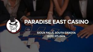 Casino & gambling-themed header image for Barons Bus Charter service to Paradise East Casino in Sioux Falls, South Dakota. Please call 6053710414 to contact the casino directly.)