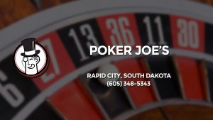 Casino & gambling-themed header image for Barons Bus Charter service to Poker Joe's in Rapid City, South Dakota. Please call 6053485343 to contact the casino directly.)