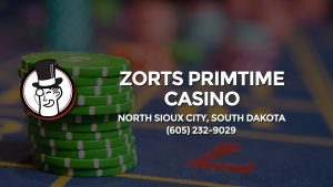 Casino & gambling-themed header image for Barons Bus Charter service to Zorts Primtime Casino in North Sioux City, South Dakota. Please call 6052329029 to contact the casino directly.)