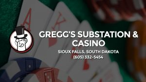 Casino & gambling-themed header image for Barons Bus Charter service to Gregg's Substation & Casino in Sioux Falls, South Dakota. Please call 6053325454 to contact the casino directly.)