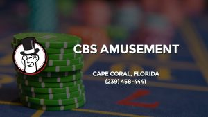 Casino & gambling-themed header image for Barons Bus Charter service to Cbs Amusement in Cape Coral, Florida. Please call 2394584441 to contact the casino directly.)