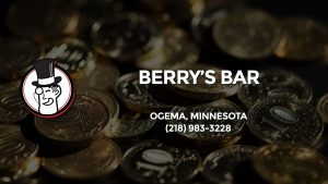 Casino & gambling-themed header image for Barons Bus Charter service to Berry's Bar in Ogema, Minnesota. Please call 2189833228 to contact the casino directly.)