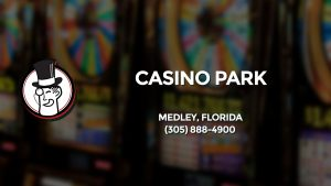 Casino & gambling-themed header image for Barons Bus Charter service to Casino Park in Medley, Florida. Please call 3058884900 to contact the casino directly.)