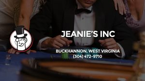 Casino & gambling-themed header image for Barons Bus Charter service to Jeanie's Inc in Buckhannon, West Virginia. Please call 3044729710 to contact the casino directly.)
