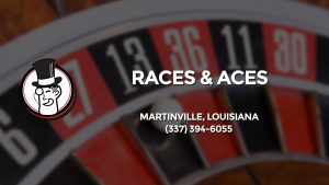 Casino & gambling-themed header image for Barons Bus Charter service to Races & Aces in Martinville, Louisiana. Please call 3373946055 to contact the casino directly.)