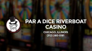 Casino & gambling-themed header image for Barons Bus Charter service to Par A Dice Riverboat Casino in Chicago, Illinois. Please call 3122805181 to contact the casino directly.)