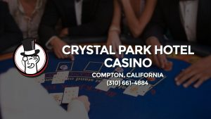 Casino & gambling-themed header image for Barons Bus Charter service to Crystal Park Hotel Casino in Compton, California. Please call 3106614884 to contact the casino directly.)