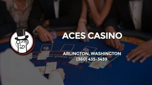 Casino & gambling-themed header image for Barons Bus Charter service to Aces Casino in Arlington, Washington. Please call 3604353439 to contact the casino directly.)