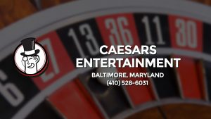 Casino & gambling-themed header image for Barons Bus Charter service to Caesars Entertainment in Baltimore, Maryland. Please call 4105286031 to contact the casino directly.)