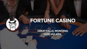 Casino & gambling-themed header image for Barons Bus Charter service to Fortune Casino in Great Falls, Montana. Please call 4064524104 to contact the casino directly.)