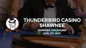 Casino & gambling-themed header image for Barons Bus Charter service to Thunderbird Casino Shawnee in Shawnee, Oklahoma. Please call 4052732679 to contact the casino directly.)