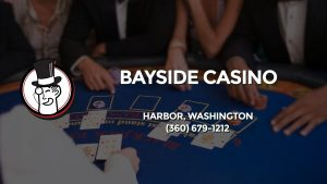 Casino & gambling-themed header image for Barons Bus Charter service to Bayside Casino in Harbor, Washington. Please call 3606791212 to contact the casino directly.)