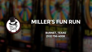 Casino & gambling-themed header image for Barons Bus Charter service to Miller's Fun Run in Burnet, Texas. Please call 5127564008 to contact the casino directly.)